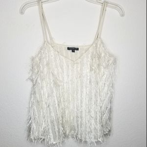 Topshop Feathery Tank Top Size 6
